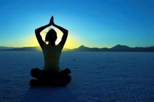yoga and sunrise