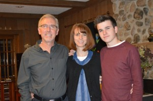 My husband Jeff, me and Jacob on Jacob's sixteenth birthday.