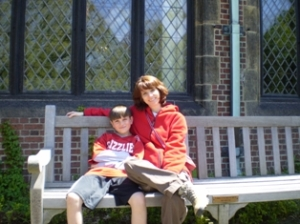 Jacob and I hanging out at Stan Hywet Hall when he was six.